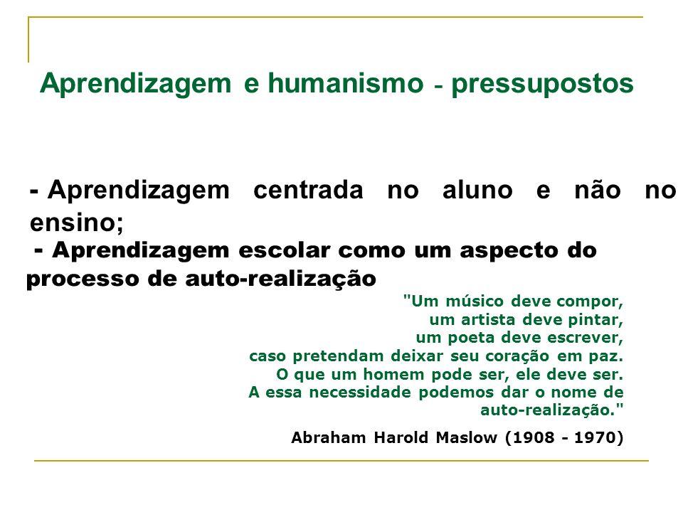 Aprendizagem e humanismo - pressupostos