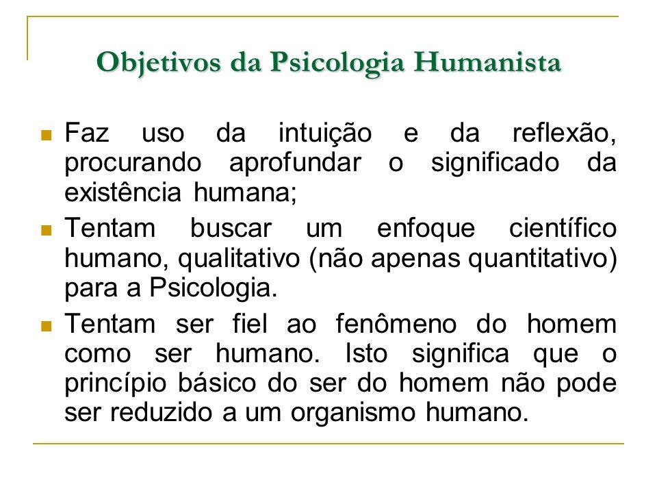 Objetivos da Psicologia Humanista