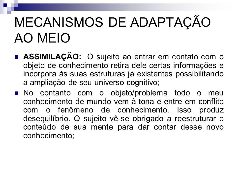 MECANISMOS DE ADAPTAÇÃO AO MEIO