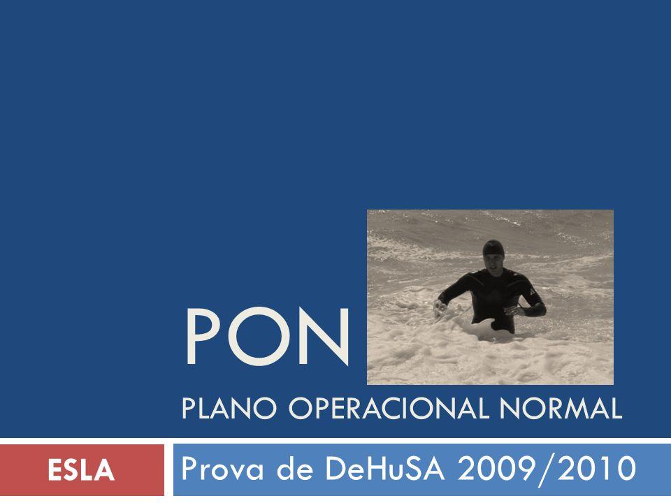 PON Plano operacional normal