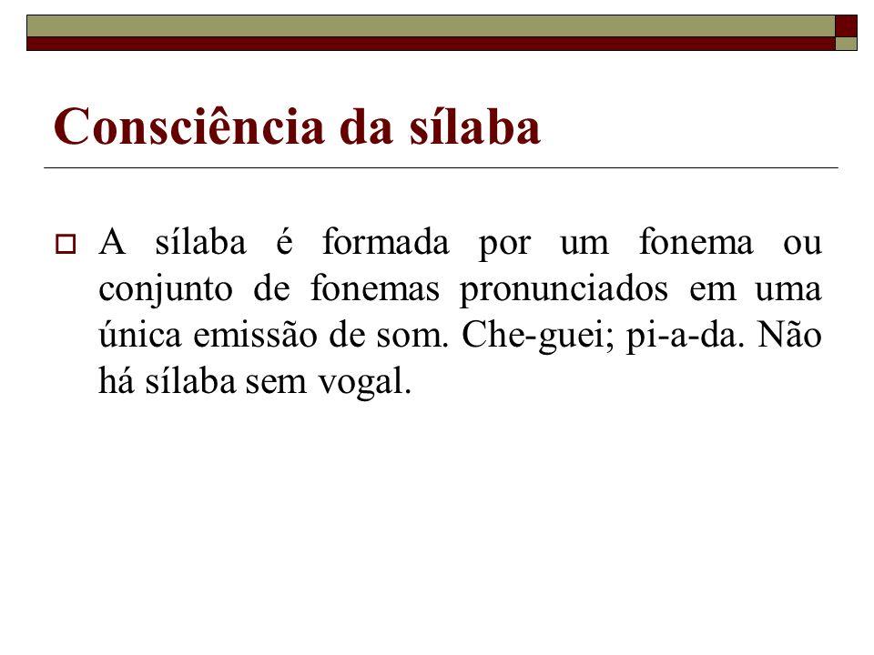Consciência da sílaba
