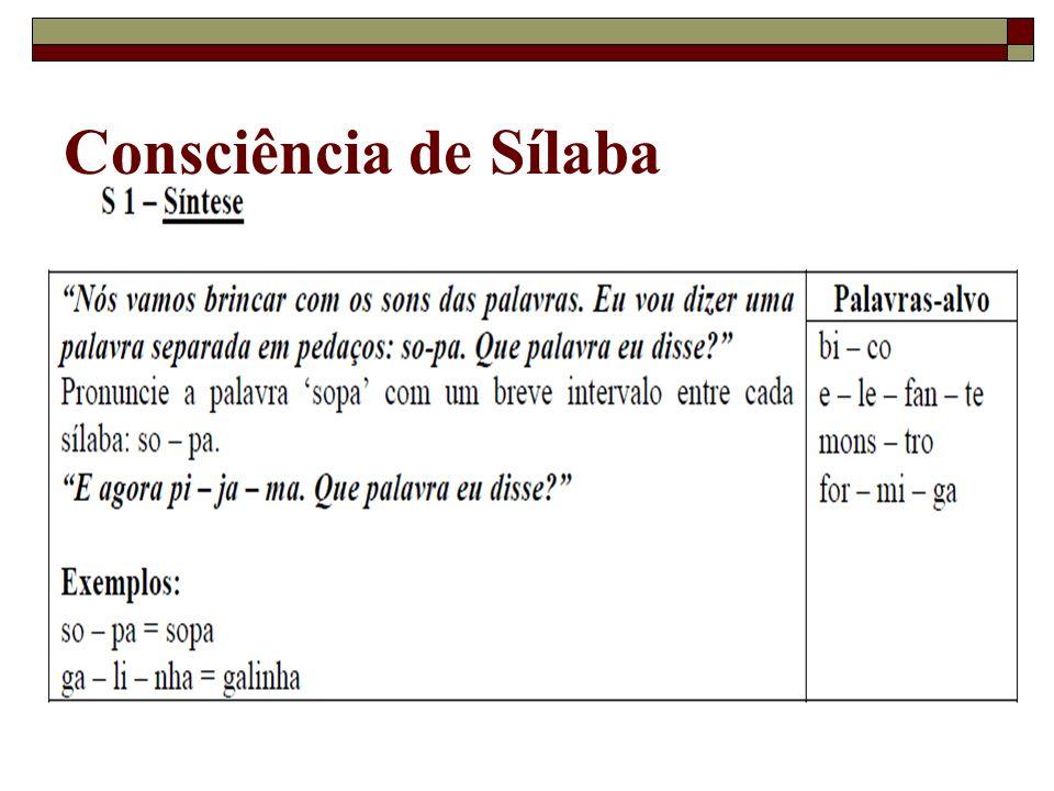Consciência de Sílaba