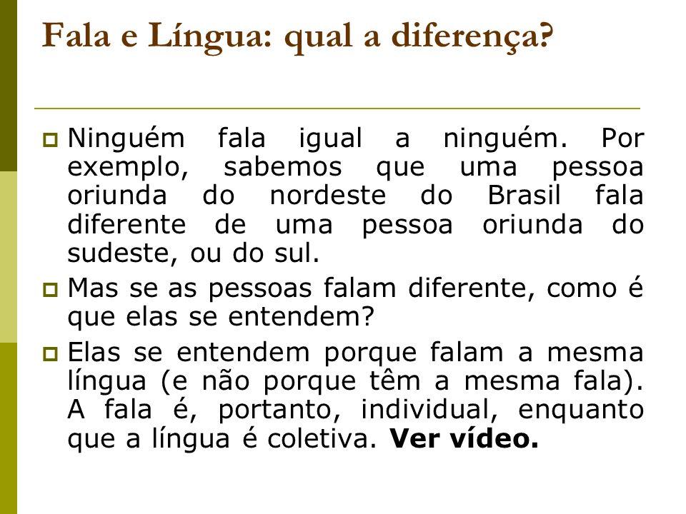 Fala e Língua: qual a diferença