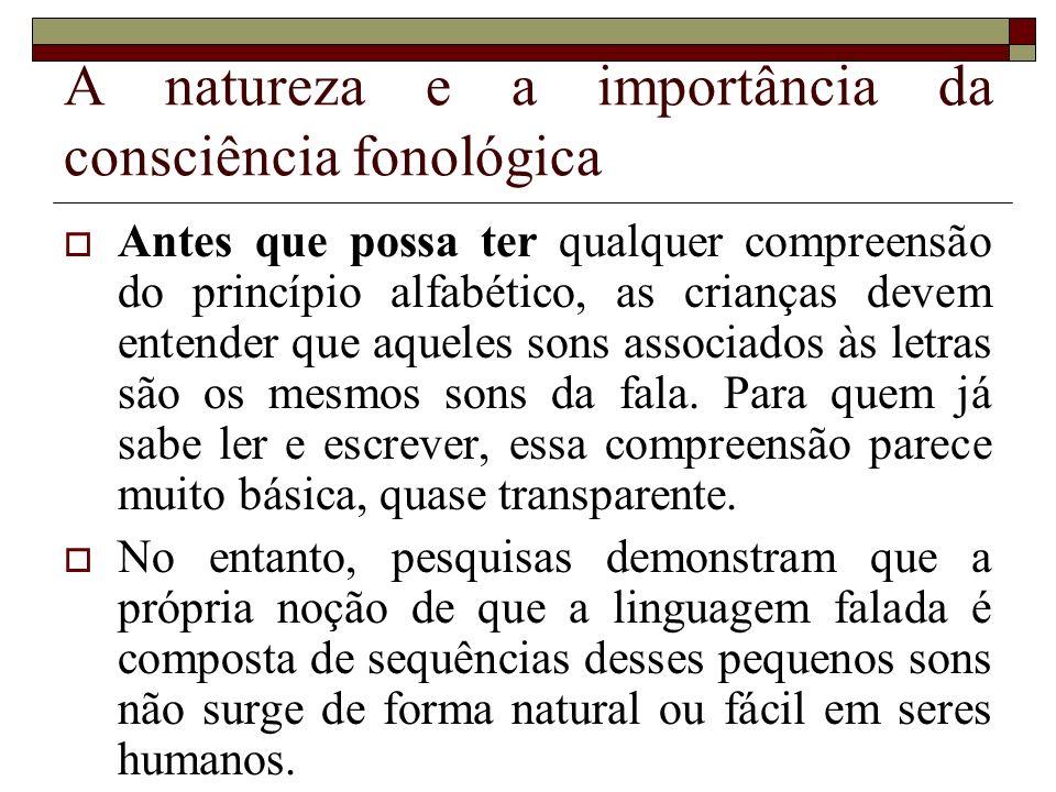 A natureza e a importância da consciência fonológica