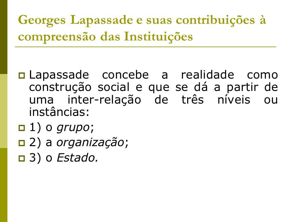 Georges Lapassade e suas contribuições à compreensão das Instituições