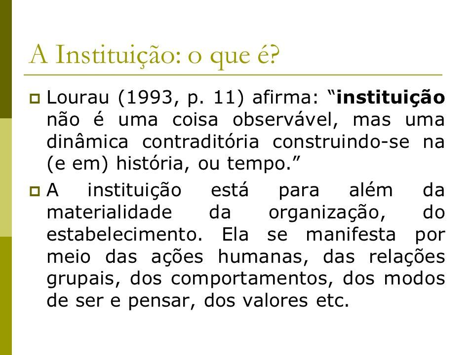 A Instituição: o que é