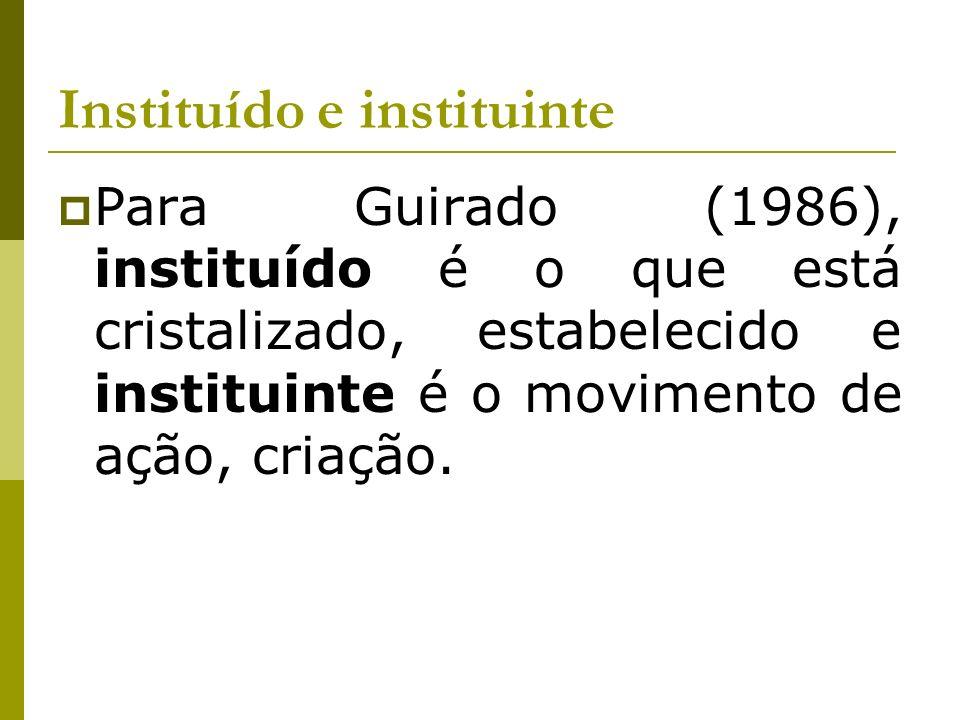 Instituído e instituinte