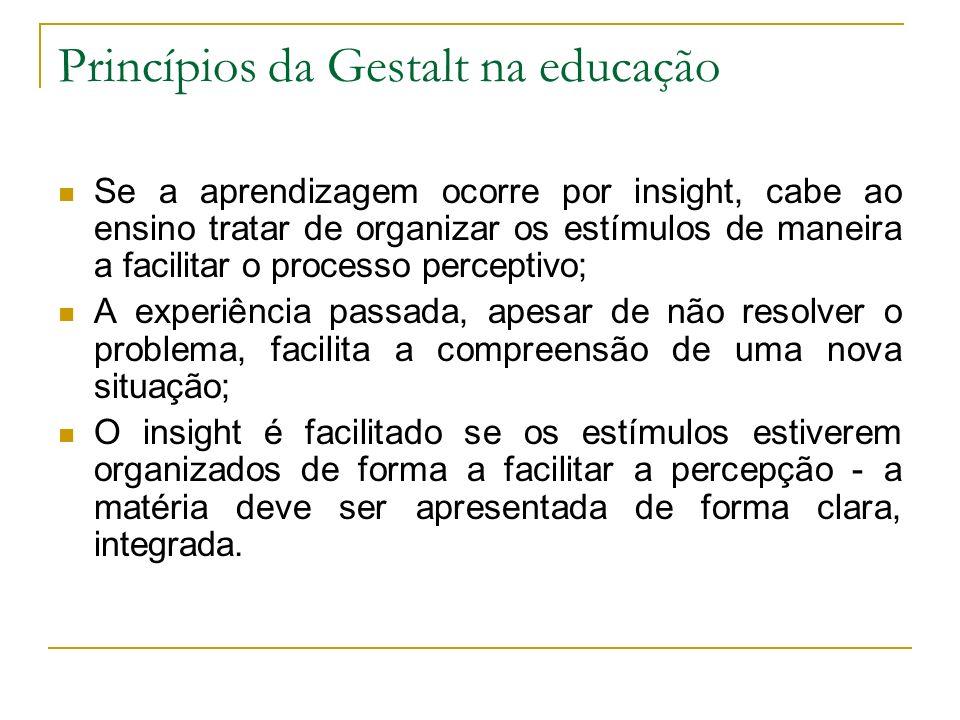 Princípios da Gestalt na educação