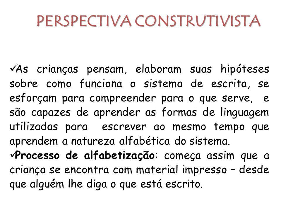 PERSPECTIVA CONSTRUTIVISTA