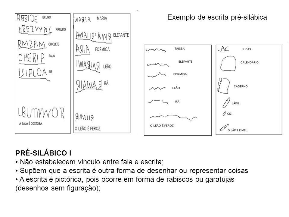 Exemplo de escrita pré-silábica