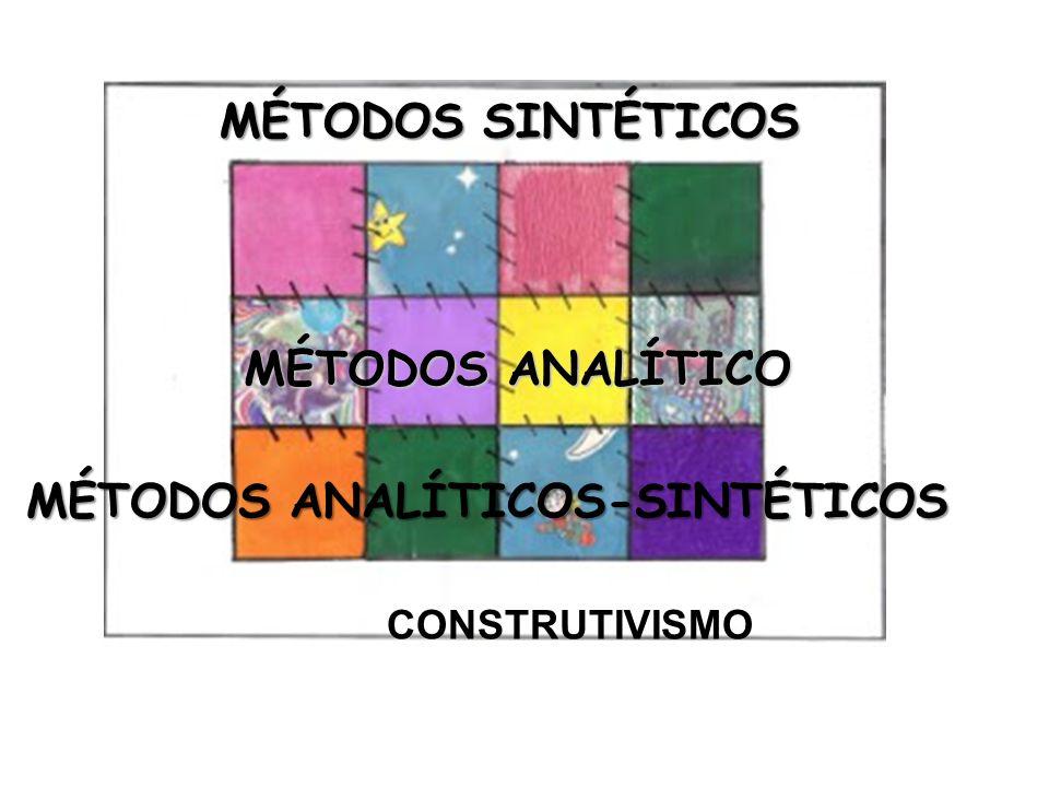 MÉTODOS ANALÍTICOS-SINTÉTICOS