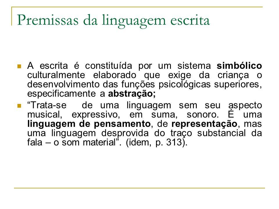 Premissas da linguagem escrita