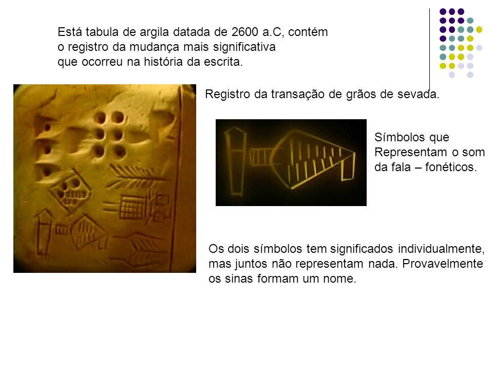 Está tabula de argila datada de 2600 a.C, contém
