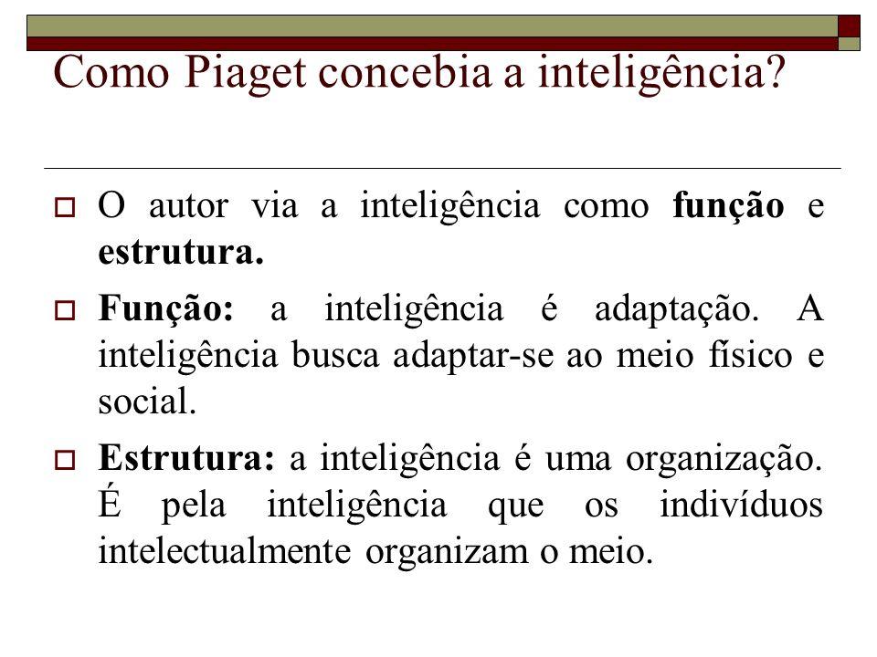 Como Piaget concebia a inteligência