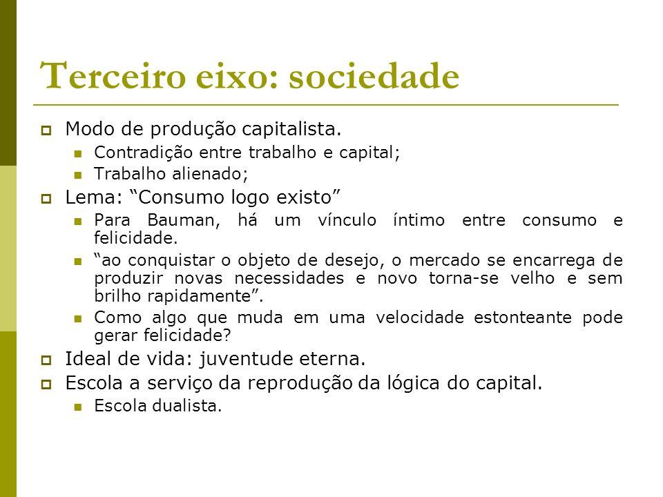 Terceiro eixo: sociedade
