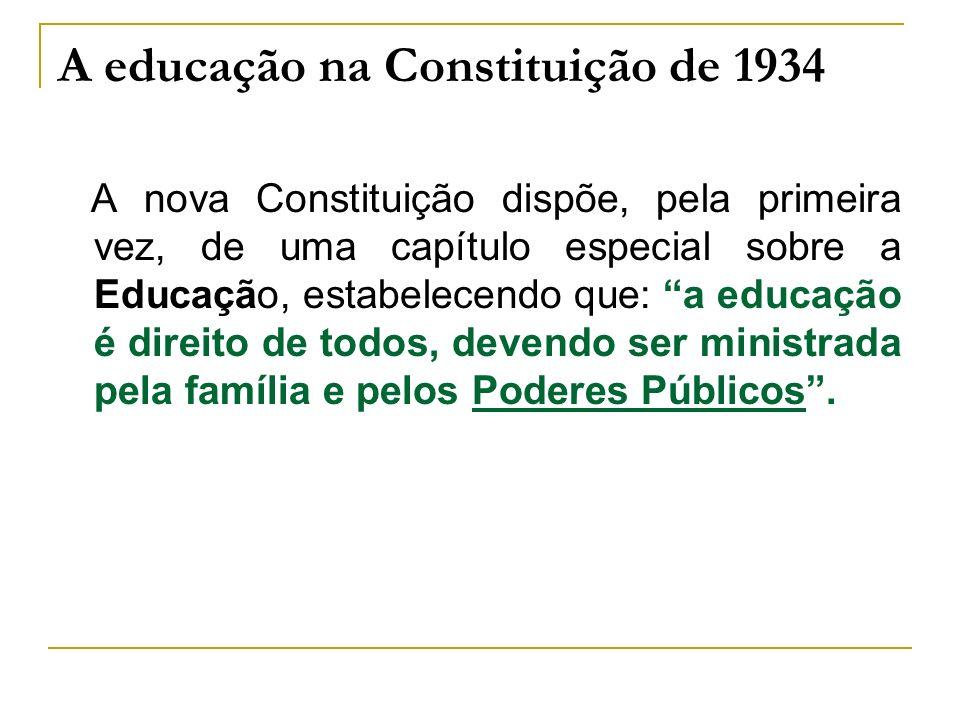 A educação na Constituição de 1934