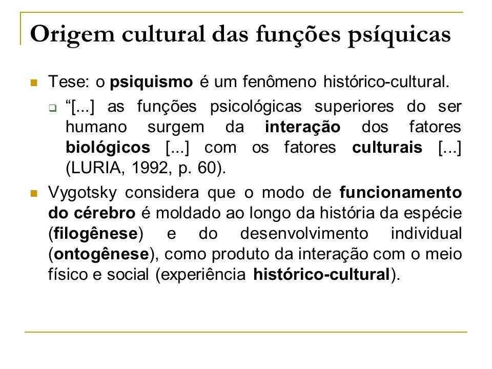 Origem cultural das funções psíquicas
