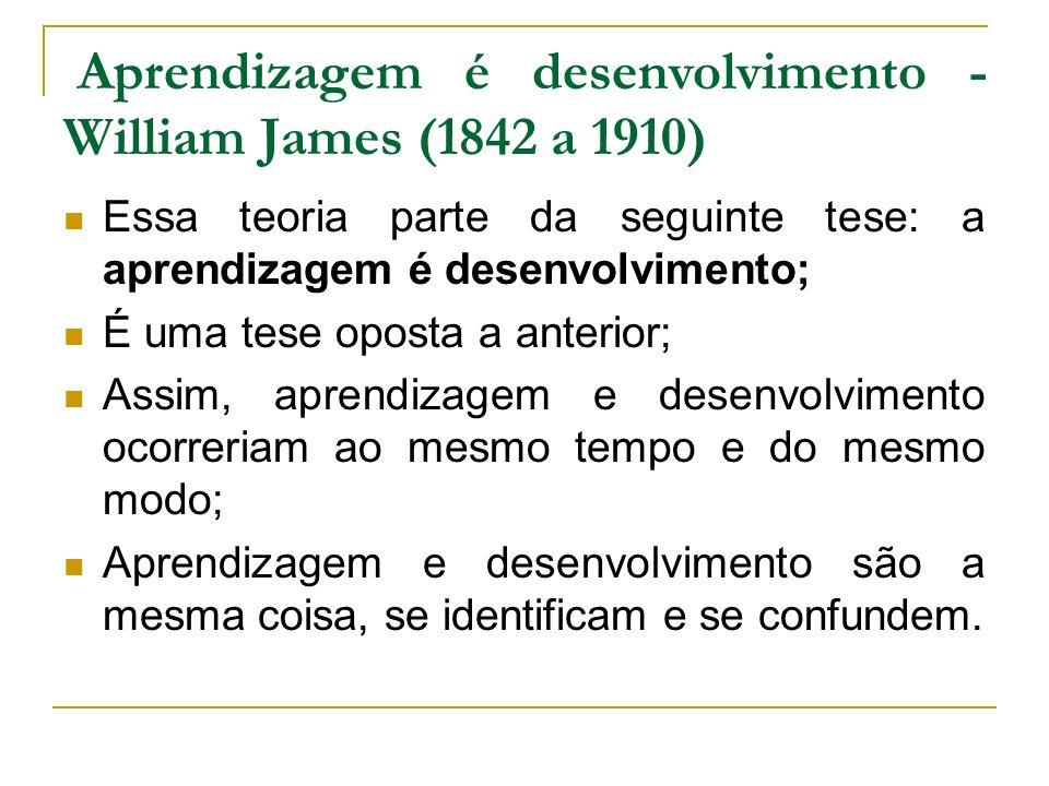 Aprendizagem é desenvolvimento - William James (1842 a 1910)