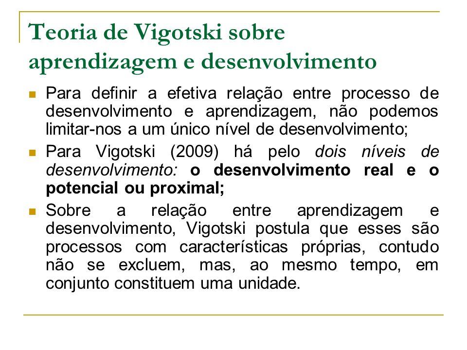 Teoria de Vigotski sobre aprendizagem e desenvolvimento