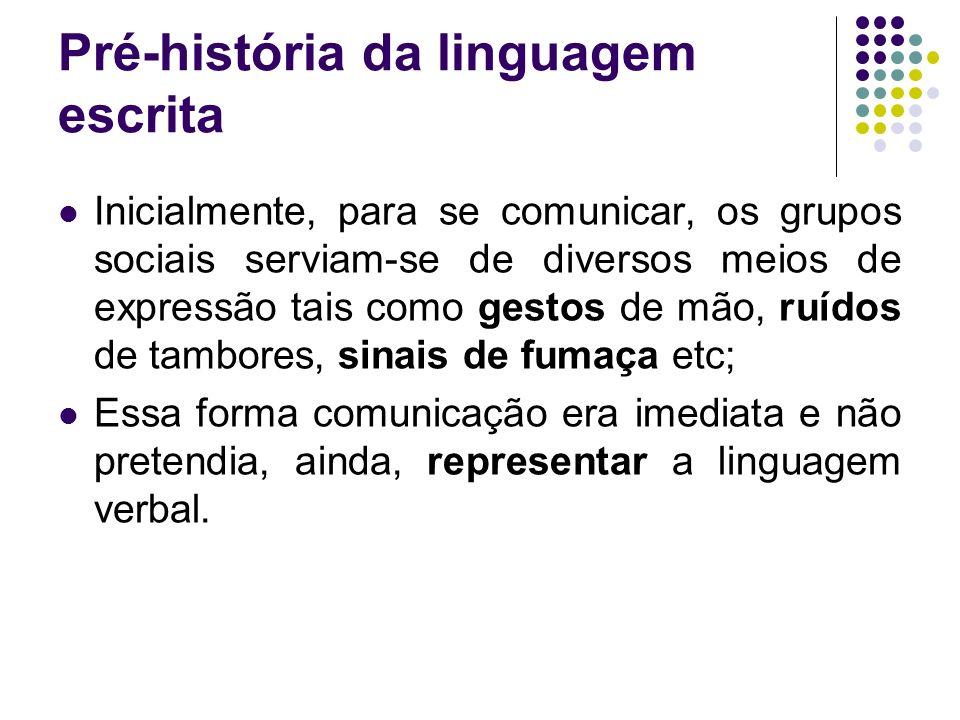 Pré-história da linguagem escrita