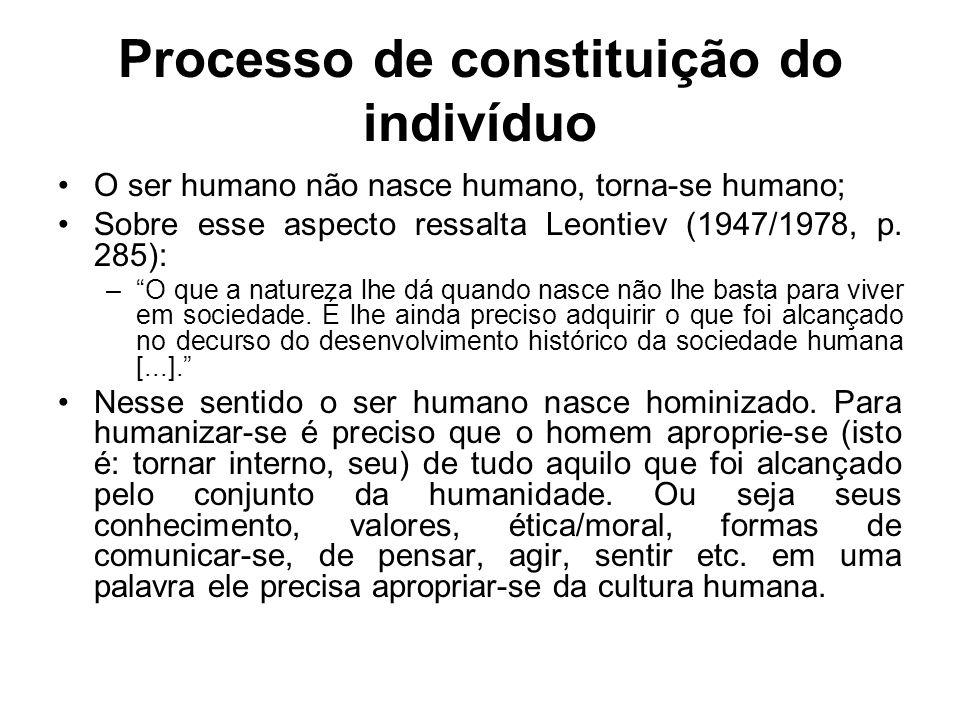 Processo de constituição do indivíduo