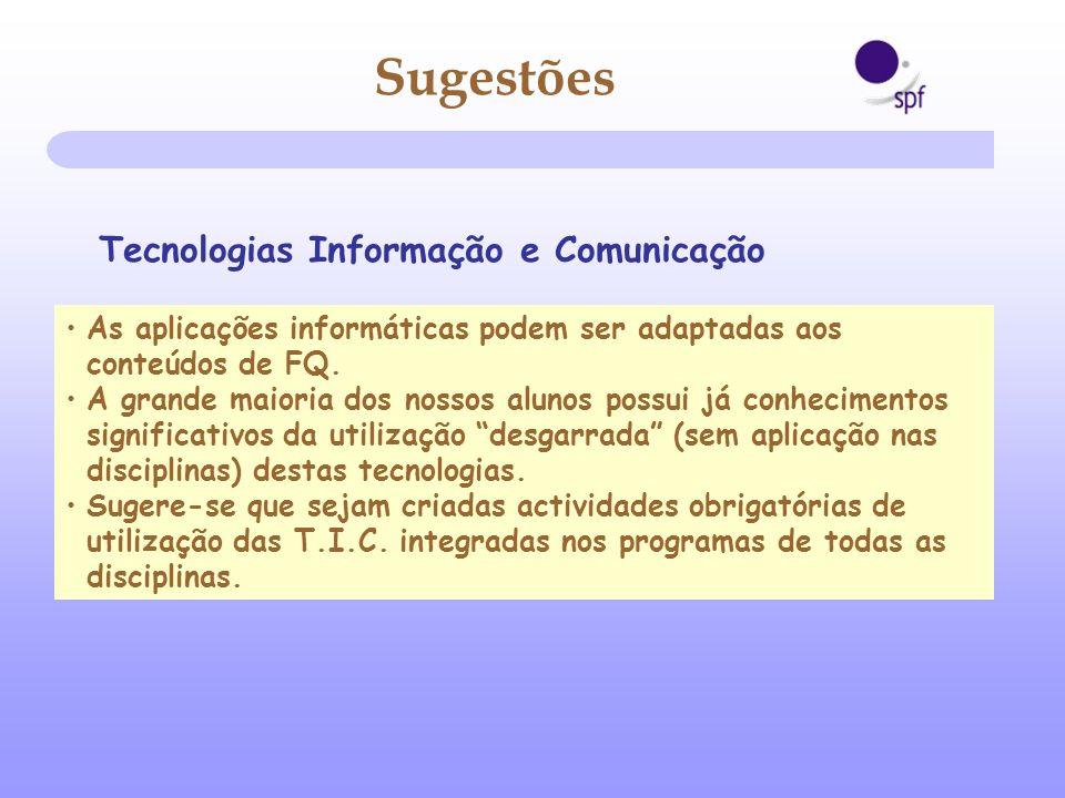 Sugestões Tecnologias Informação e Comunicação