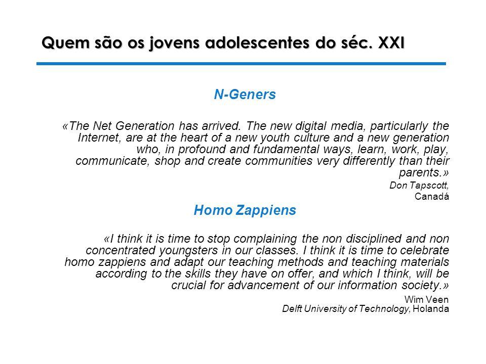 Quem são os jovens adolescentes do séc. XXI