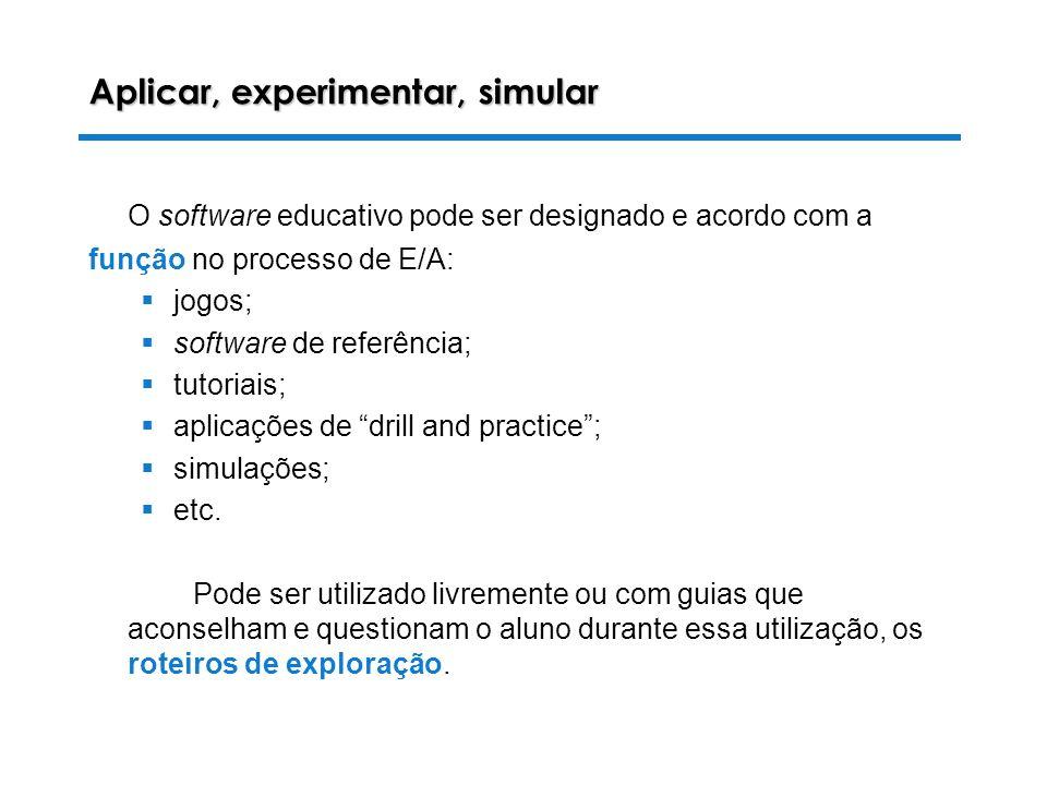 Aplicar, experimentar, simular