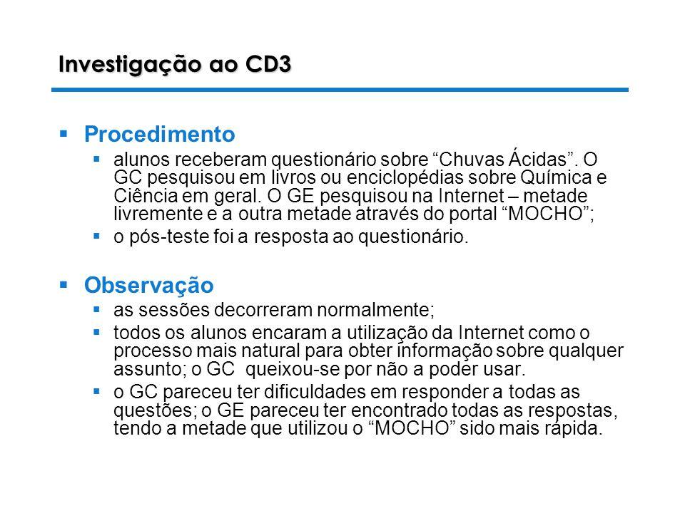 Investigação ao CD3 Procedimento Observação