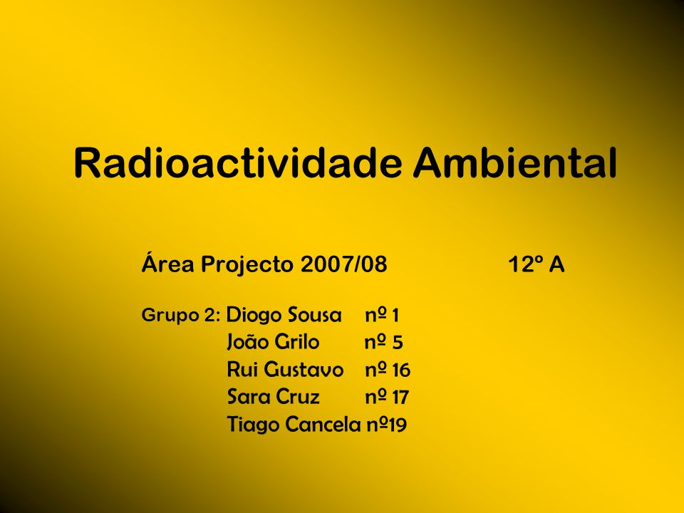 Radioactividade Ambiental