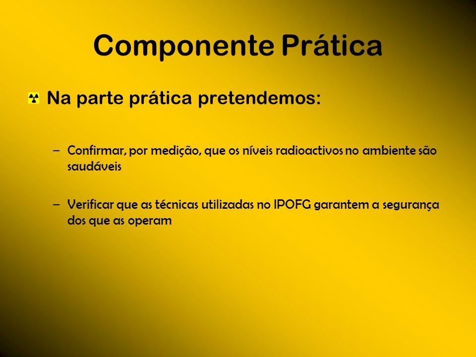 Componente Prática Na parte prática pretendemos: