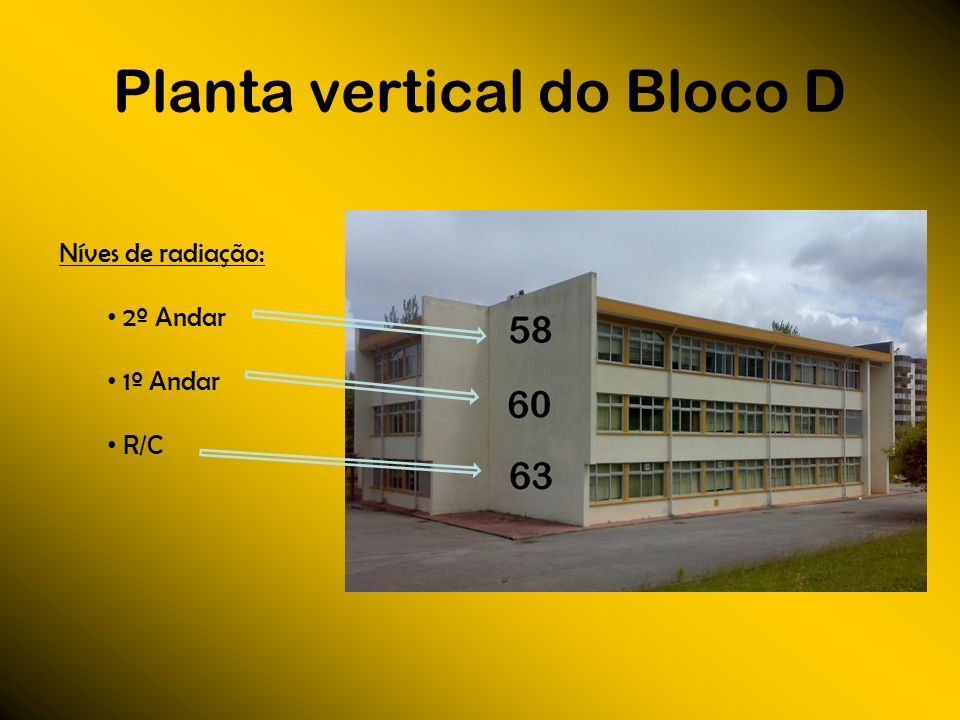 Planta vertical do Bloco D