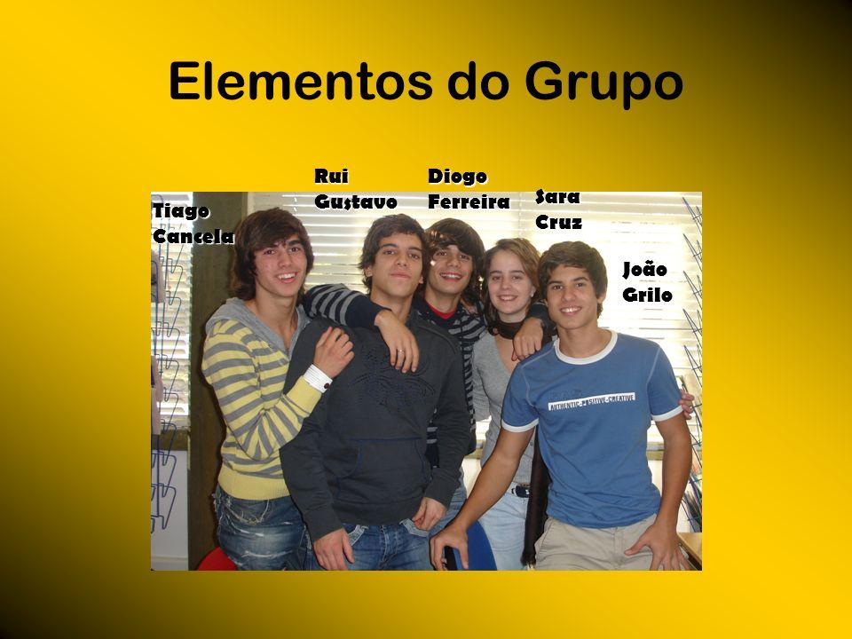 Elementos do Grupo Tiago Cancela Diogo Ferreira Sara Cruz João Grilo