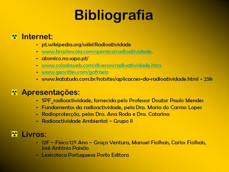 Bibliografia Internet: Apresentações: Livros: