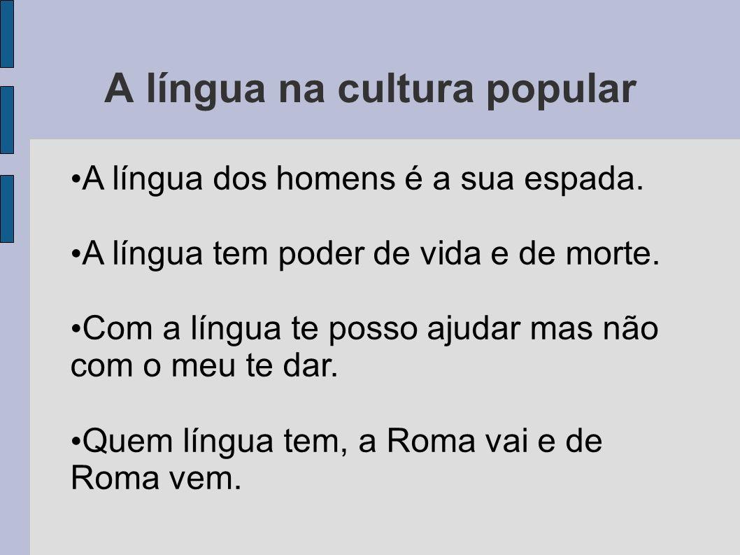 A língua na cultura popular