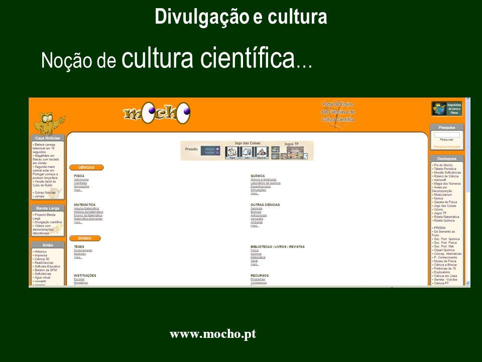 Noção de cultura científica…