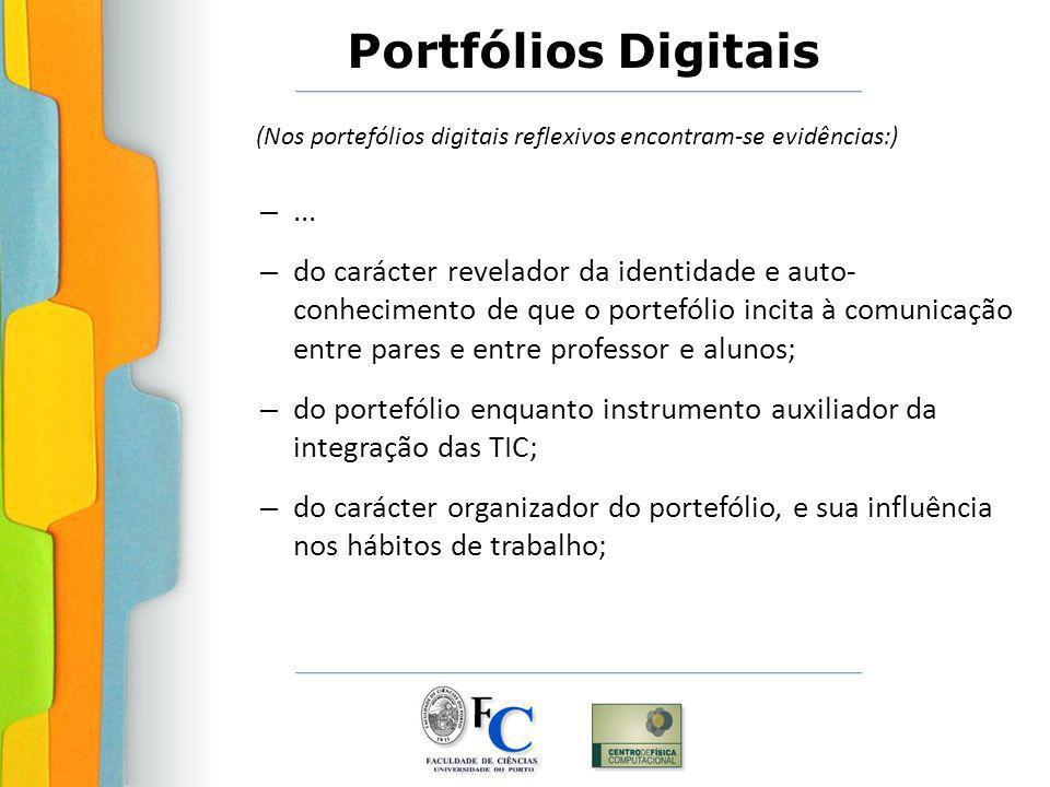 do portefólio enquanto instrumento auxiliador da integração das TIC;