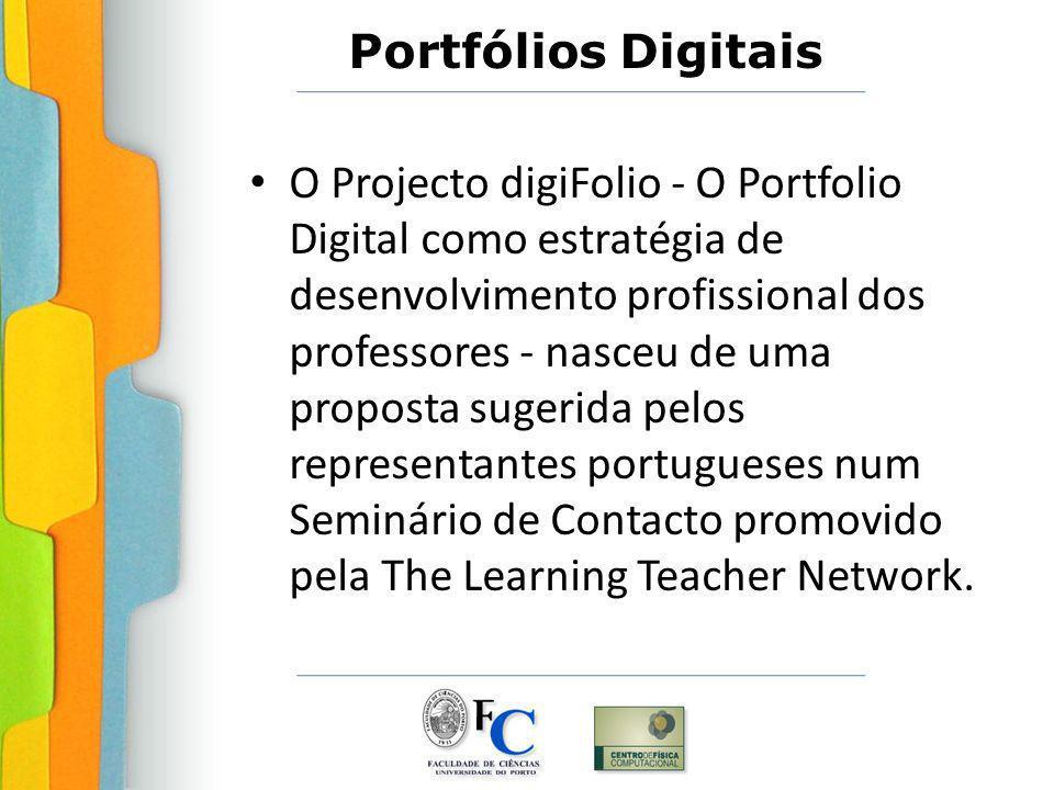 O Projecto digiFolio - O Portfolio Digital como estratégia de desenvolvimento profissional dos professores - nasceu de uma proposta sugerida pelos representantes portugueses num Seminário de Contacto promovido pela The Learning Teacher Network.