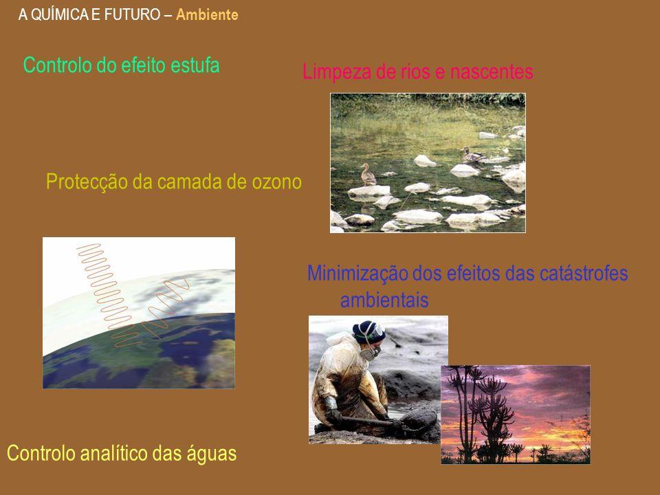 Controlo do efeito estufa Limpeza de rios e nascentes
