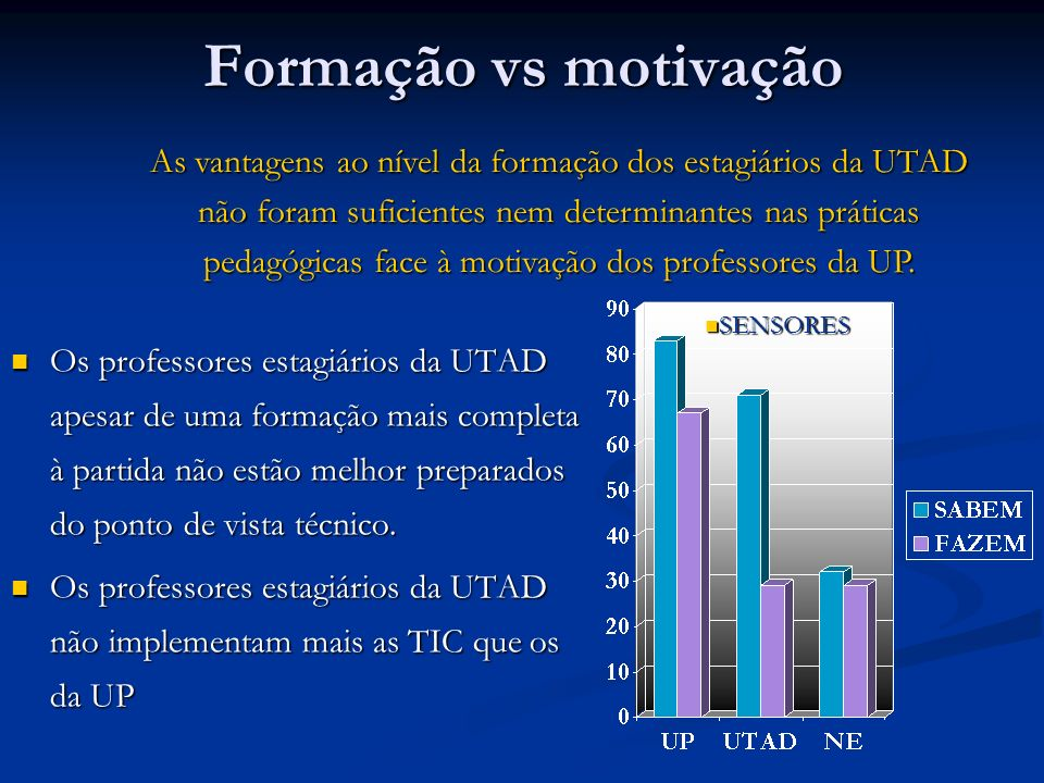 Formação vs motivação