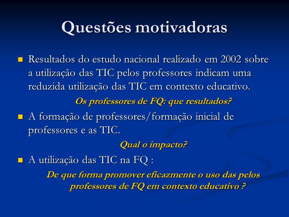 Os professores de FQ: que resultados