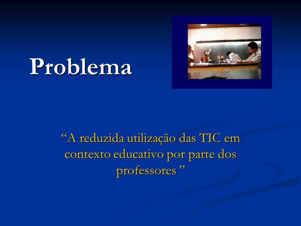 Problema A reduzida utilização das TIC em contexto educativo por parte dos professores