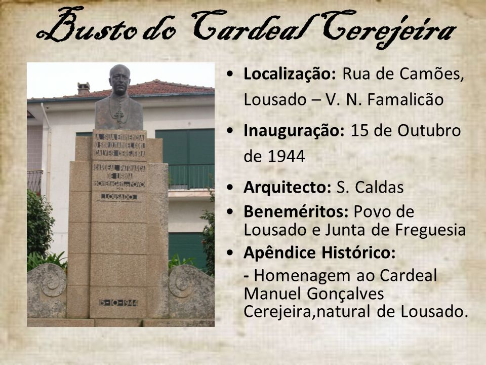 Busto do Cardeal Cerejeira