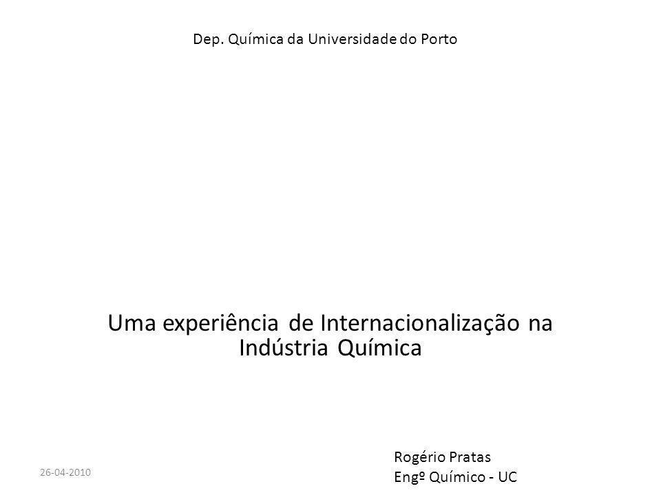 DEQ - UC Uma experiência de Internacionalização na Indústria Química