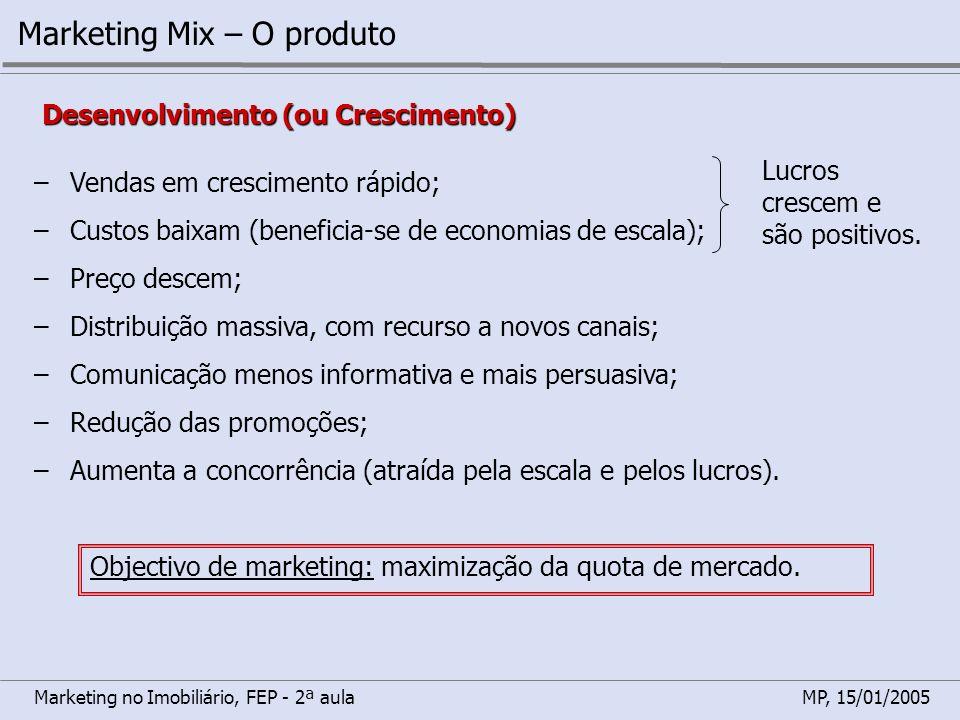 Marketing Mix – O produto
