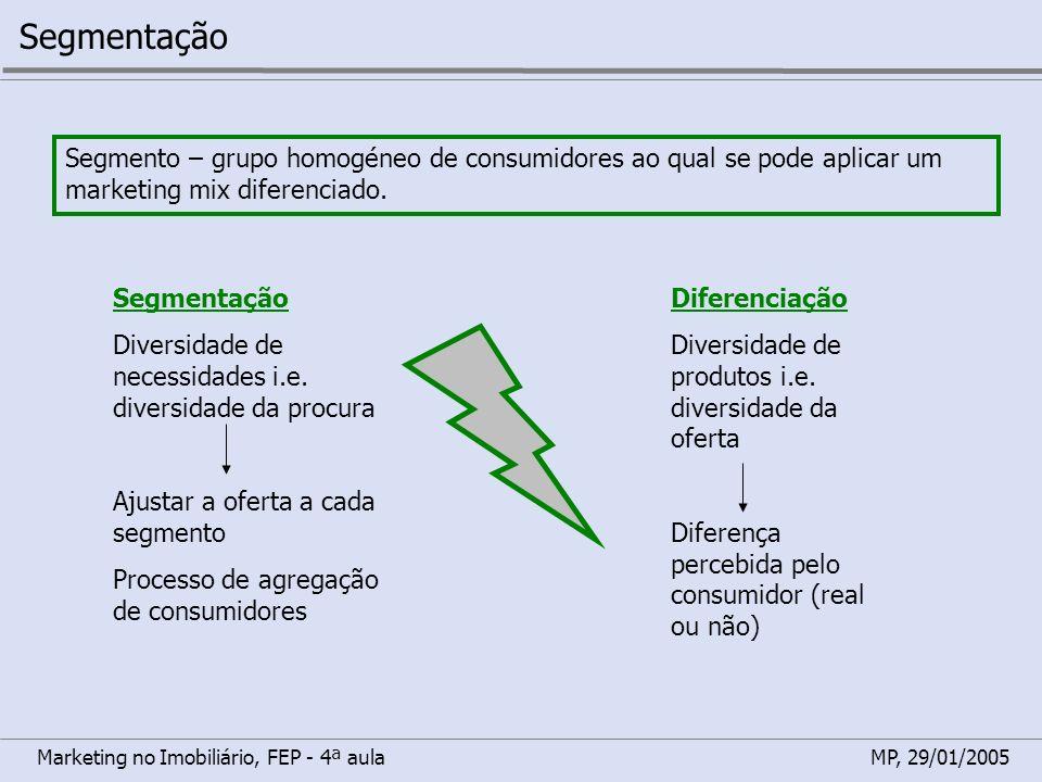 SegmentaçãoSegmento – grupo homogéneo de consumidores ao qual se pode aplicar um marketing mix diferenciado.