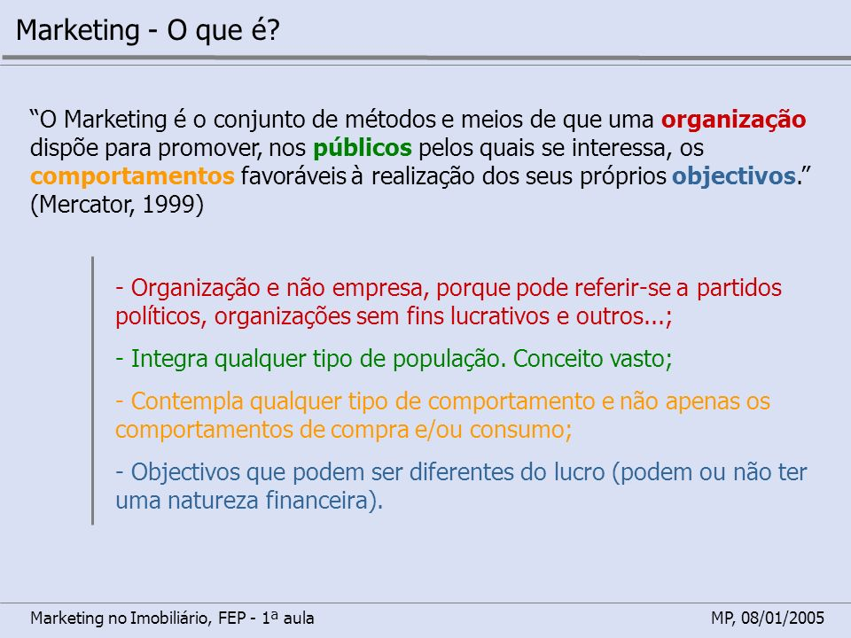 Marketing - O que é