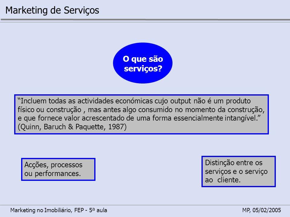 Marketing de Serviços O que são serviços