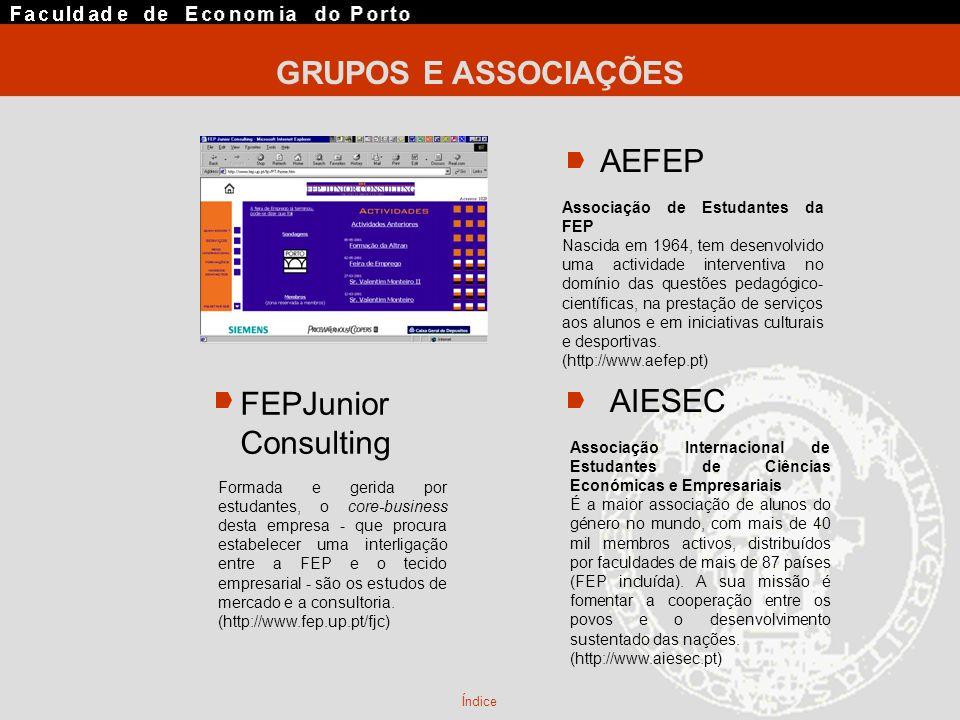 GRUPOS E ASSOCIAÇÕES AEFEP FEPJunior AIESEC Consulting