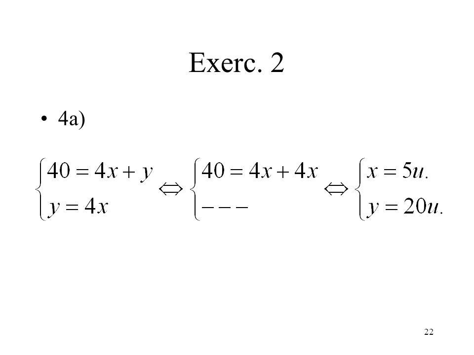 Exerc. 2 4a)